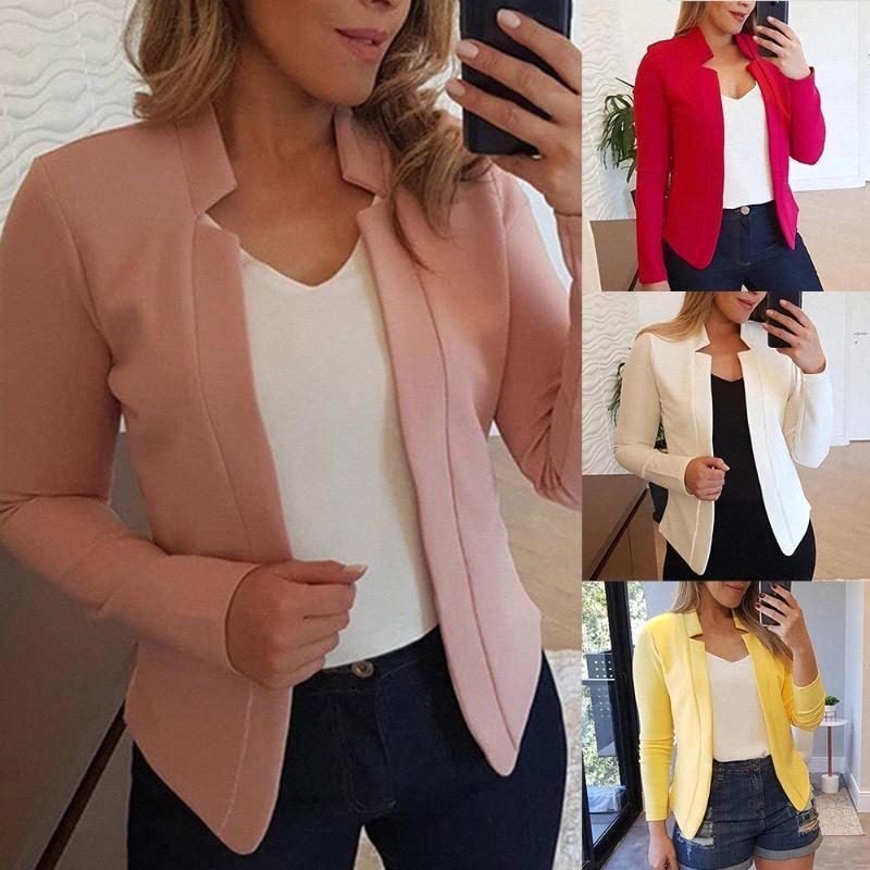 Donne di marca di Blazer Moda Primavera business formale Blazers Office Lady Casual Suit Jackets Solid cappotto a maniche lunghe Slim Blazer FGP3 #