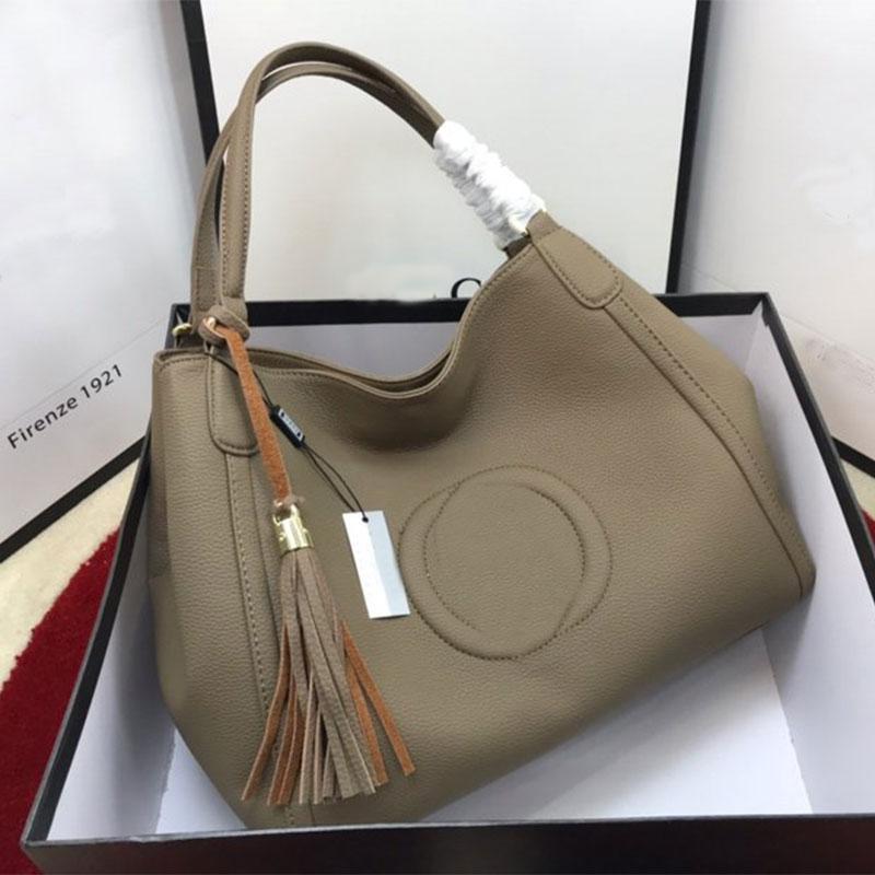 Grande capacité Paquet sac à main sac à bandoulière Mode litchis grains style classique en cuir véritable intérieur Fermeture à glissière haute qualité