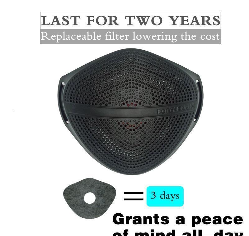 Lavable sécurité Bouche Kanshouzhe respirateurs Masques visage poussière de séparation des filtres de nez réutilisable avec masque Home2001 Betoq