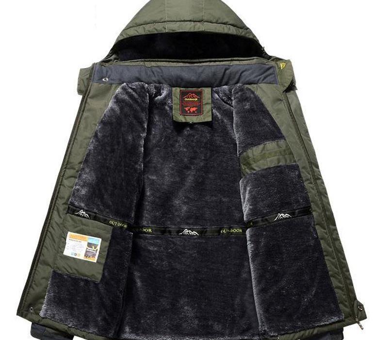 Winter Fleece Jackets Men Windproof Waterproof Outwear Parka Mens Windbreaker Warm Raincoat Coat Plus Size 9XL11