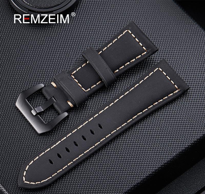 جلد طبيعي watchband 20 ملليمتر 22 ملليمتر 24 ملليمتر 26 ملليمتر مجنون الحصان nubuck الرياضة في الهواء الطلق حزام مشبك sqcird dh_seller2010