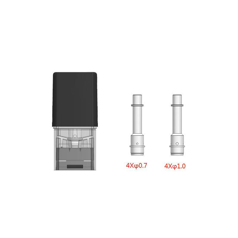 Disposable E Cigarette Vaporizer Pods Ceramic 1ml Cartridge Empty Vape Pen Cartridges Replacement Atomizer for TH C Vape Carts