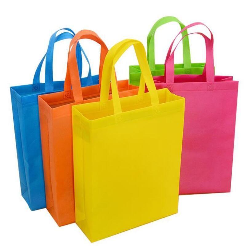 Yeni Renkli Katlanır Çanta Dokunmamış Kumaş Katlanabilir Alışveriş Çantaları Kullanımlık Çevre Dostu Katlanır Çanta Yeni Bayanlar Saklama Torbaları DHD2611