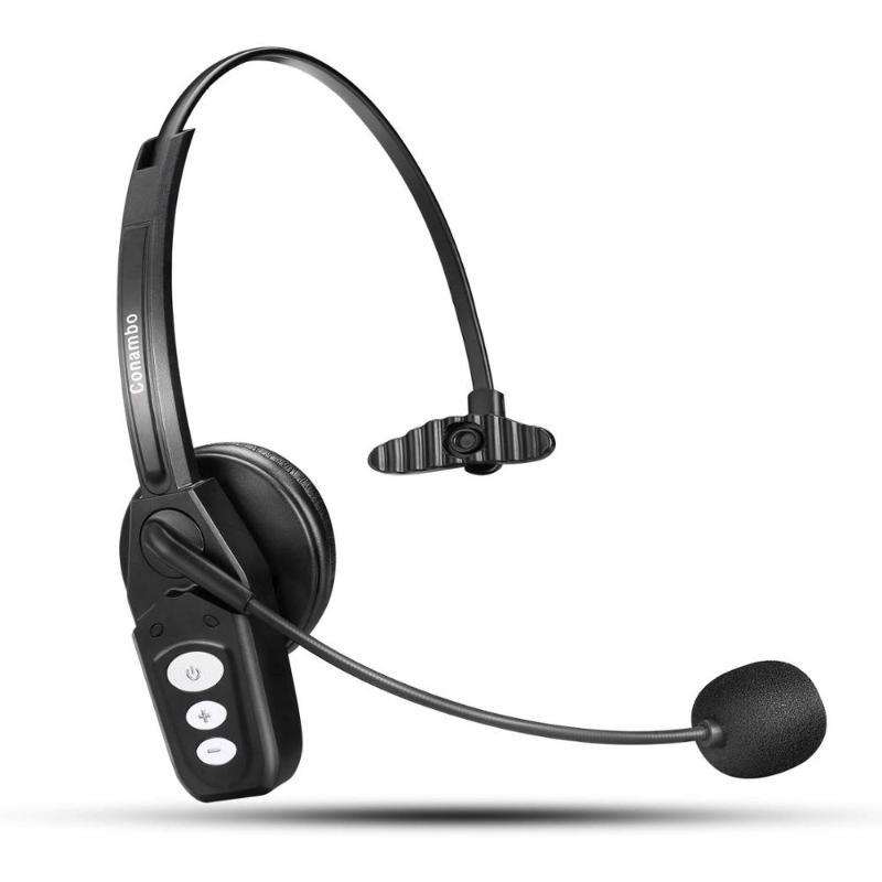 Wantek conambo Bluetooth Headset V5.0,Pro Wireless Headset High Voice Clarity with Noise Canceling Mic for Cell Phone-JBT800 Pro