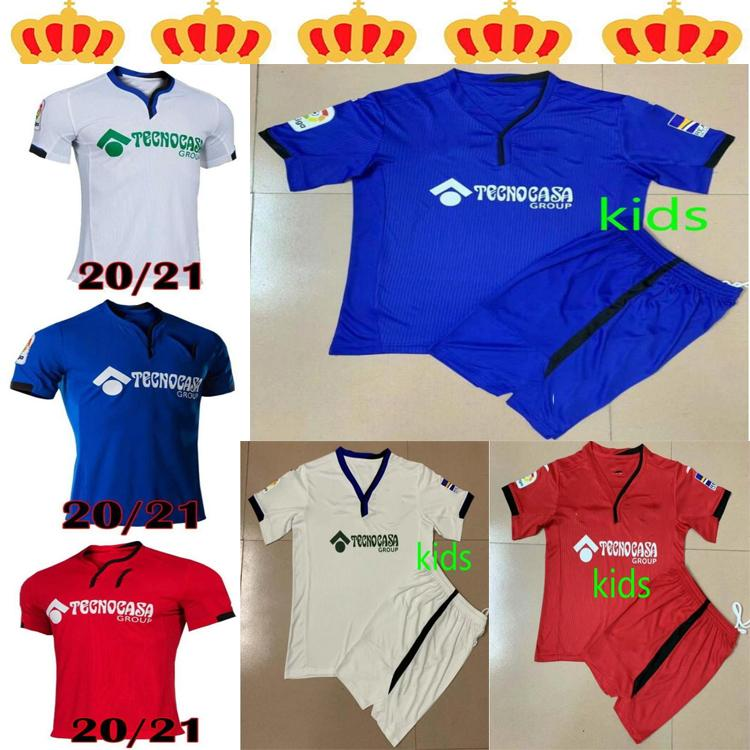 2021Getafe CF Futebol Jerseys Bar 20 21 Camisetas de Fútbol Anjo Mata Maksimovic Cucurella Etxeita Unal Men Kids Football Shirt