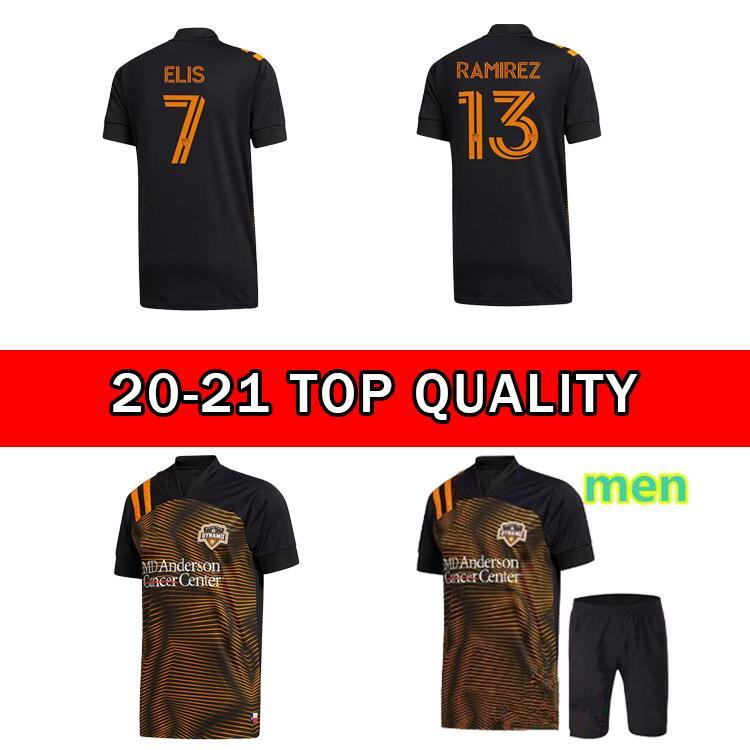 2020 Houston Dynamo Soccer Jersey 20 21 MLS # 7 Elis Manota Uniforme Dínamo # 13 Ramirez Darwin Jr Camisas de Futebol de Alta Qualidade