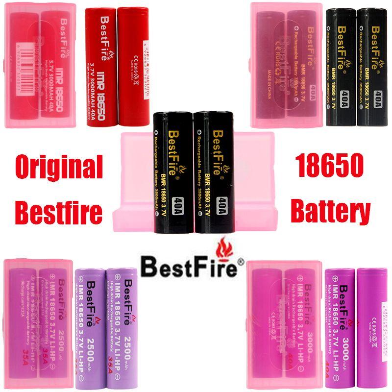 Original Bestfire IMR BMR 18650 батарея 2500 мАч 3000 мАч 3100 мАч 3200 мАч 3500 мАч 35a 40a перезаряжаемые литий-вап батареи 100% подлинный