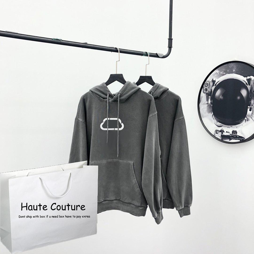 20FW Mens женщины толстовка с блокировкой Pattern В 2020 Front Нового капюшона Одежда Девочки Hiphop Hoodie Streetwear Промытой материал