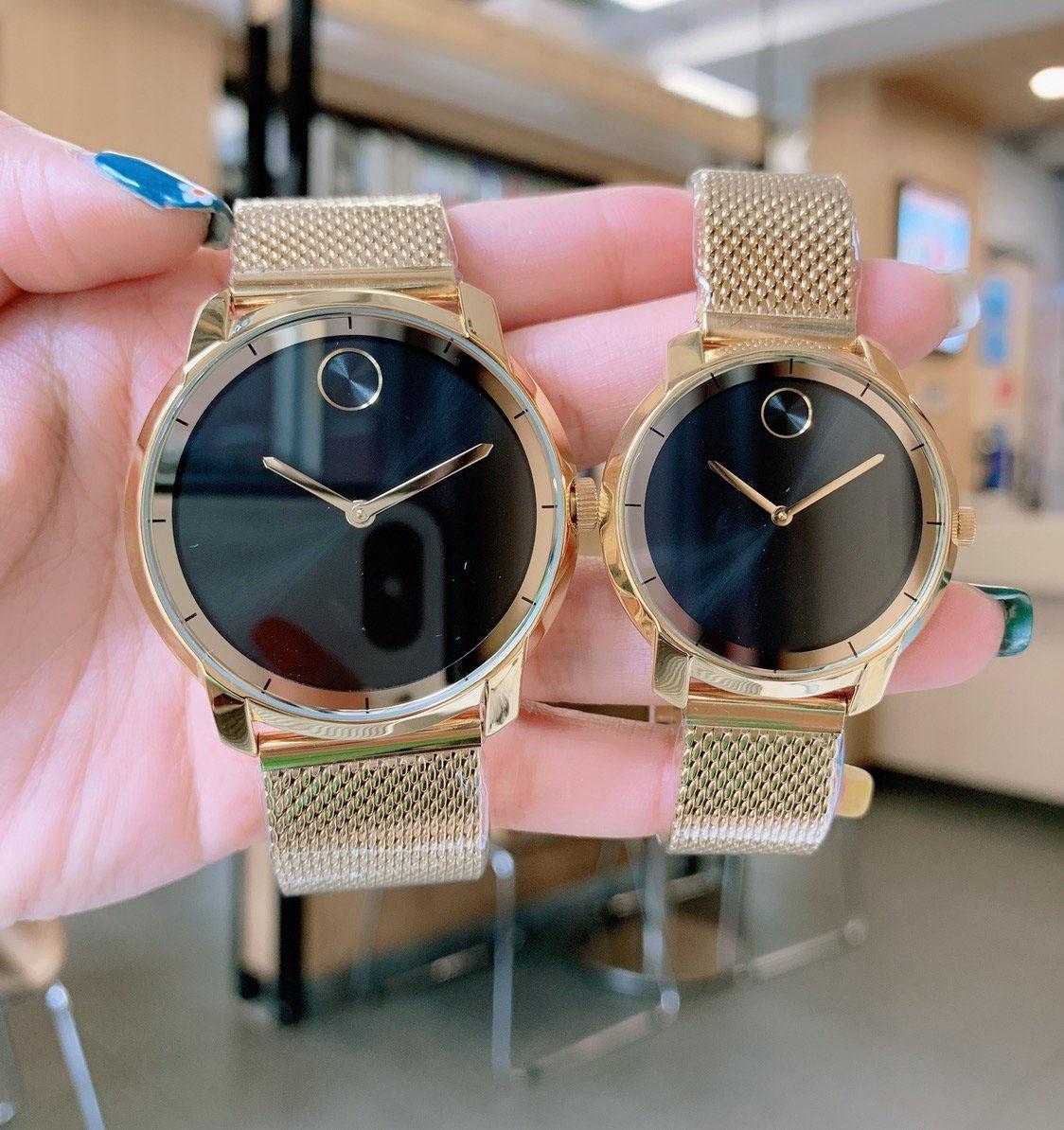 Armbanduhren Männer Frauen Uhren Paar Watch Quarz Bewegung Edelstahlband Hohe Qualität Wasserdichte Party Big: 43mm klein: 36mm