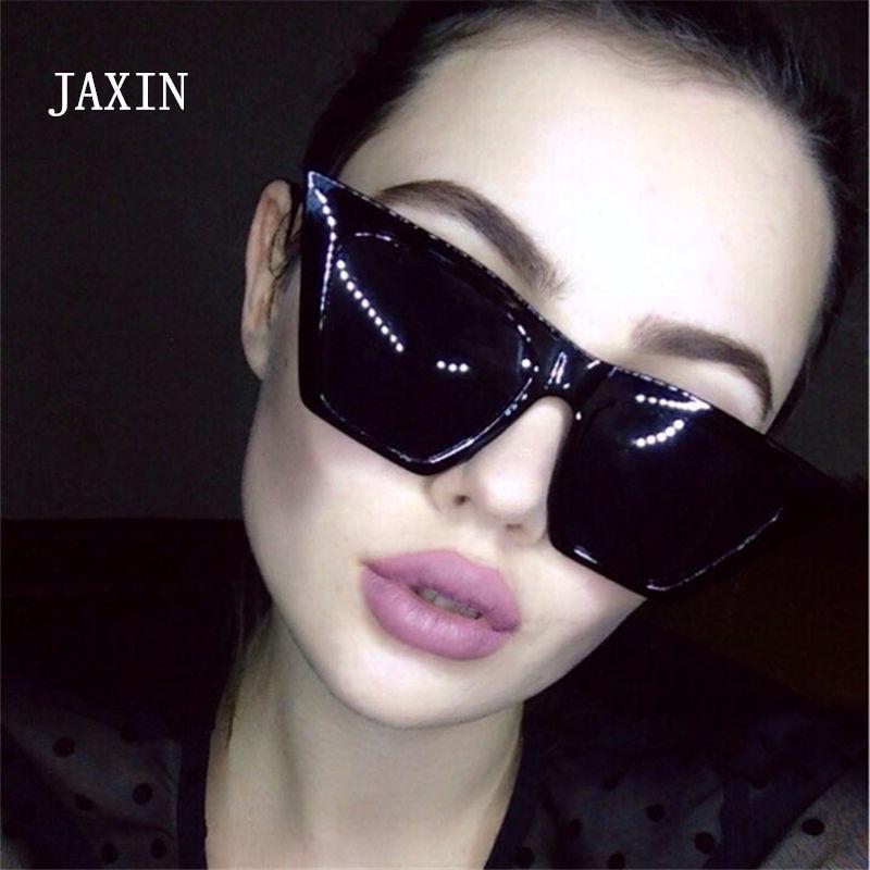 Jaxin Trend Boy Boyutu Moda Kadınlar Retro Büyük Gözlük Kutusu Erkekler Şeffaf Yakışıklı Kutu Güneş Gözlüğü Güneş Gözlüğü UV400GAFA EOGDR
