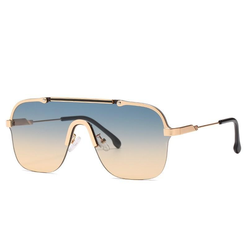 Güneş Gözlüğü Teenyoun Moda Boy Kare Çerçevesiz Erkekler Yüksek Kalite Yarı-Çerçevesiz Bir Bicgler Erkek De Sol Gözlük Için Güneş Gözlükleri