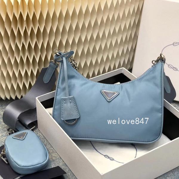 2005 Женский Crossbody Body Designers Bag Женщины Холст Qynf Re-Edition Luxurys Кошельки Hobo Плечо Нейлоновые Сумки Пересеченные Сумки UFX8 TXAP