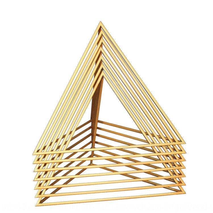 cDKRU Baijie e tre pendente puntelli ferro puntelli telaio triangolo ammessi zona pendant dei prop triangolo vetrina creativa zy2Gj geometrico