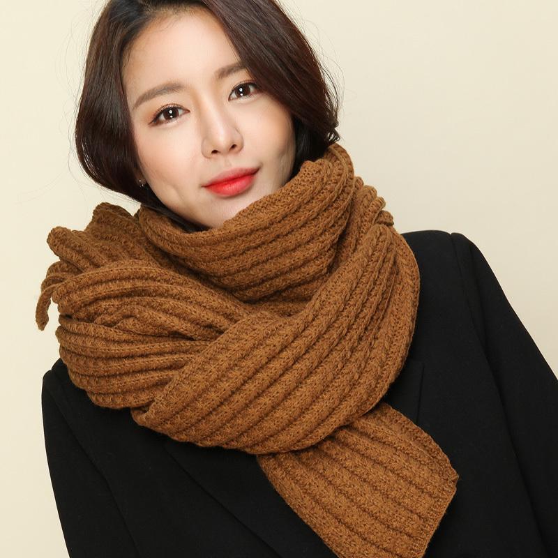 женский платок с»корейской длинным шарфом