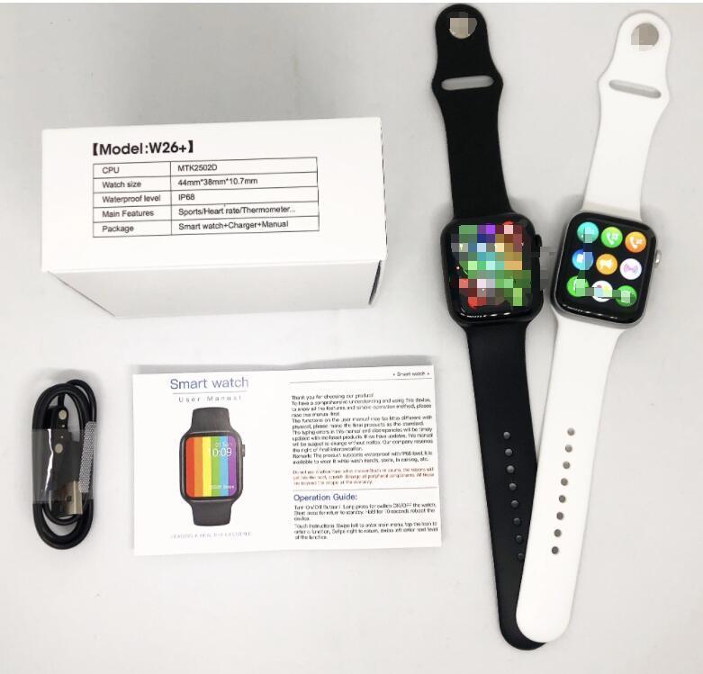 1,75 дюйма водонепроницаемый IWO-экран W26 + Smart Call Body PPG + ECG Температура Bluetooth Часы 320 * 385 Мужские серии PK HD PLUS 12 W26 SmartWATC PWSJ