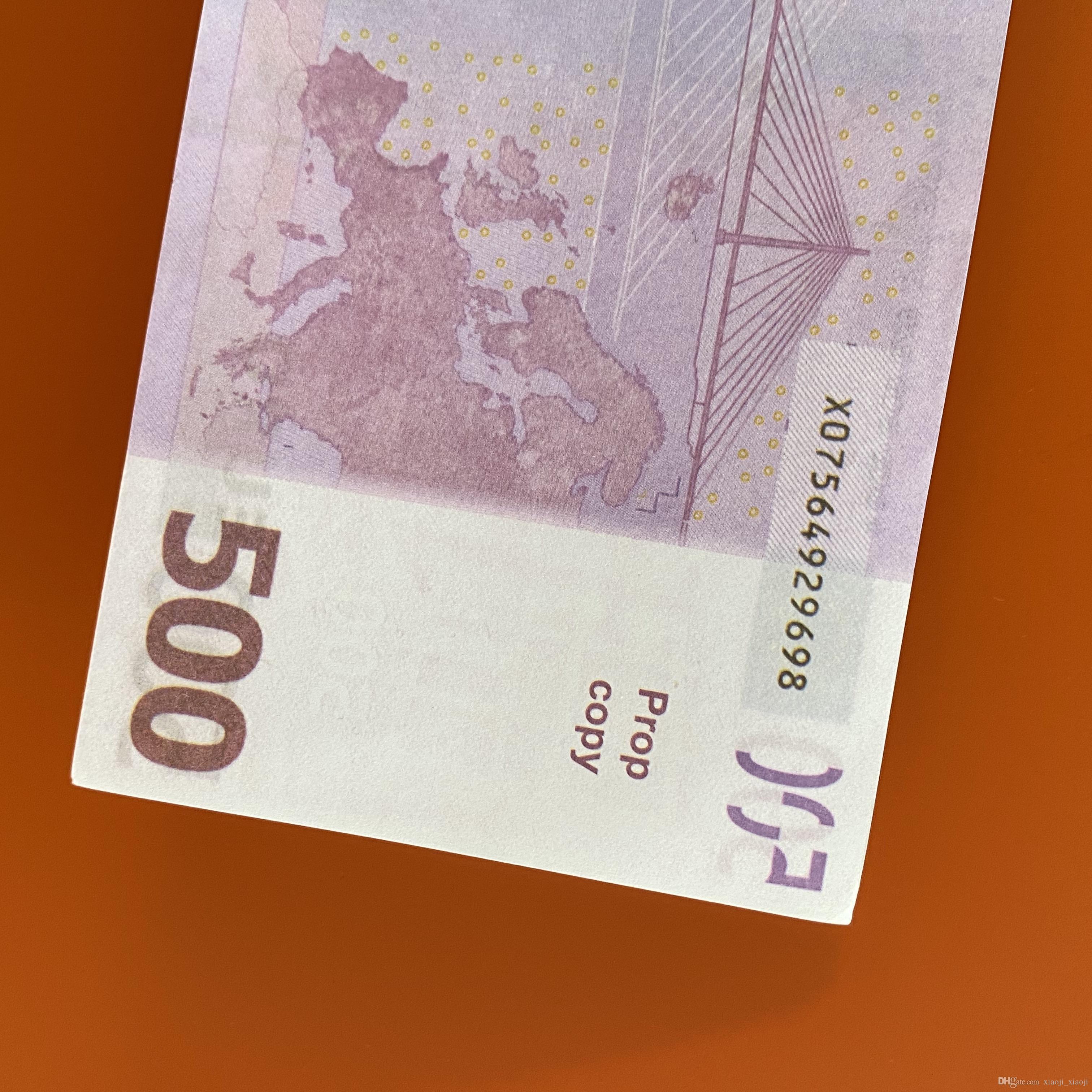 Игра 100 Шт. / Упаковка или PROP Семья Денежная бумага США Toy320 / Евро / Доллар Дети Большинство копией Реалистичные банкноты FRJFA
