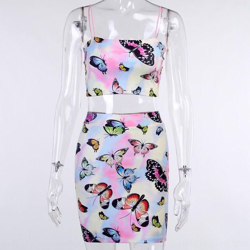 t2iOC 232762020 été nouveau costume jupe corps imprimé autocollant d'été stickerButterfly de sexy pour les femmes 232.762.020 Camisole nouveau sexy s près du corps