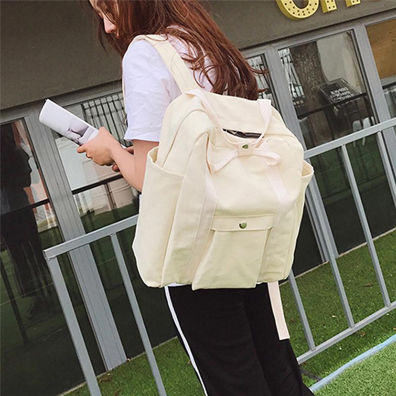 droopshipping 2020 eusable feminino lâmona mochila mochila dobrável mochila estudante de viagem branco preto A1-30
