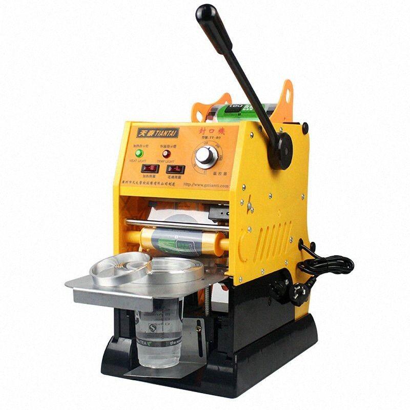 Machine d'étanchéité d'étanchéité à bulles électriques à bulles électriques de 315W pour 9 /9.5cm pour Café / coupe de lait Scellant PAAHQ #