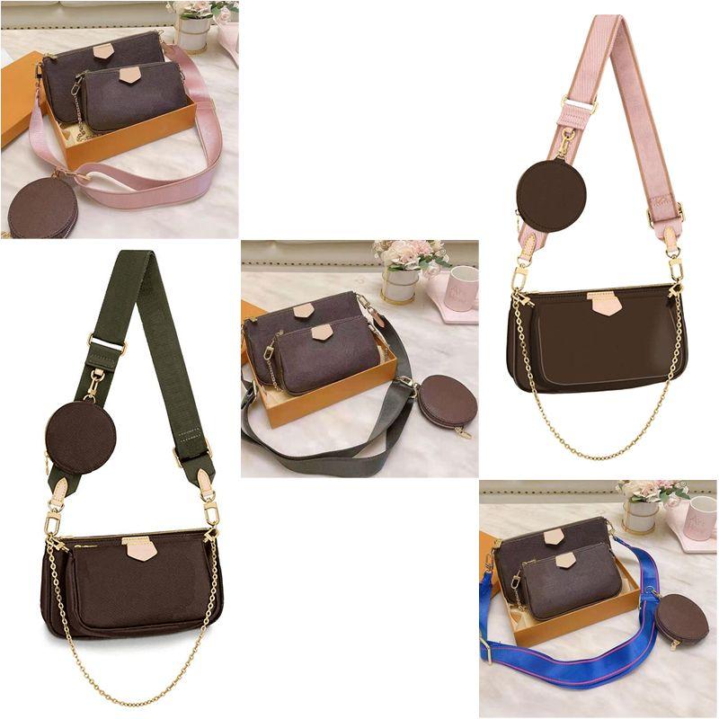 Multi Favorit Crossbody 2021 Pochete Accessoires Schulterzubehör Geldbörsen Mini Pochette 3 stücke Mode Taschen Tasche Frauen Handtaschen Ijaul