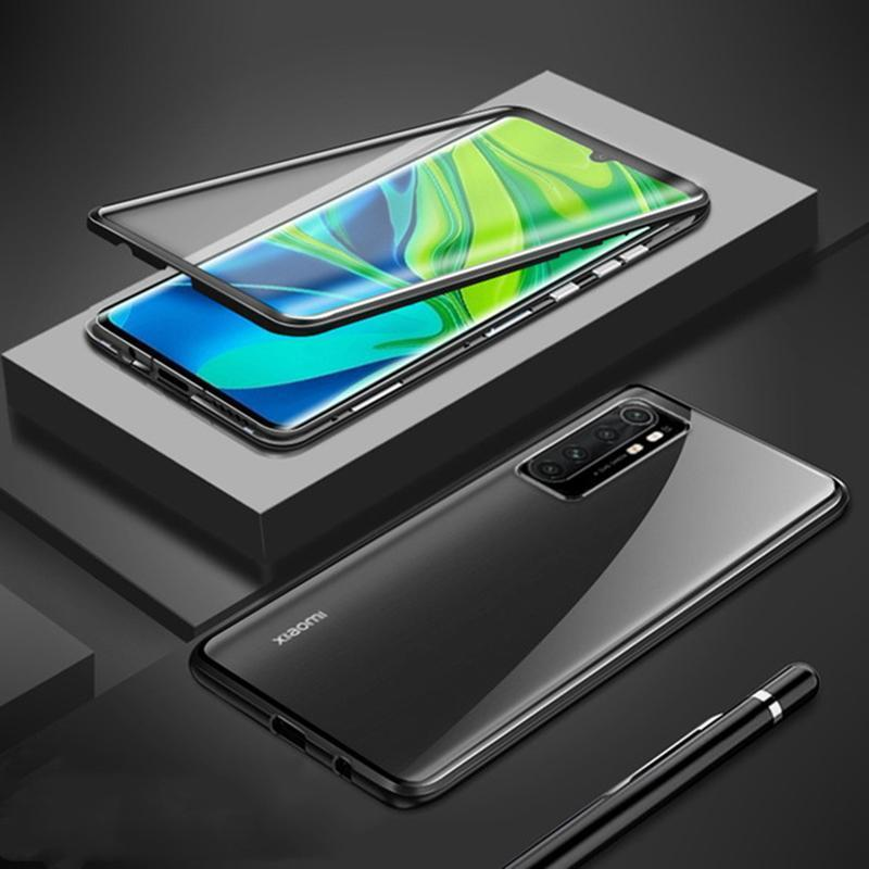 Magnetic Case For Xiaomi Mi Note 10 Lite Case Dual Side Tempered Glass Hard Cover For Mi Note 10 Lite Funda H bbyDOf