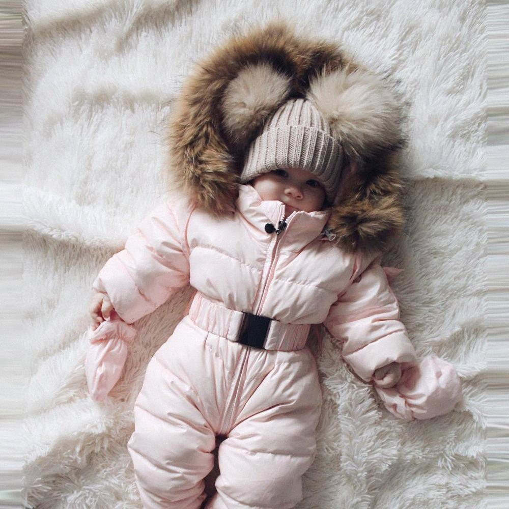 bebê do inverno macacão 2019 Newborn inverno macacãozinho macacões quentes para meninas Projetado para o bebê russo snowsuit com capuz # G2 rKqF #