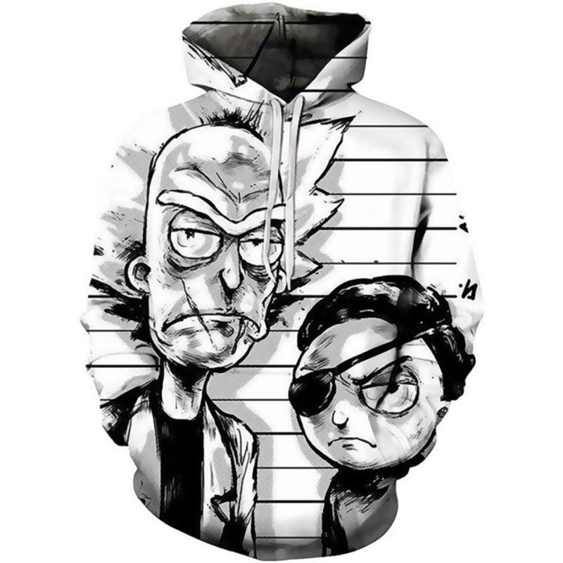 2020 Yeni Rick Morty Hoodie erkek Kaykay Kapüşonlu Kazak Erkek Ve Kadın Kapşonlu Çılgın Bilim Adamı Erkek Tişörtü C0929