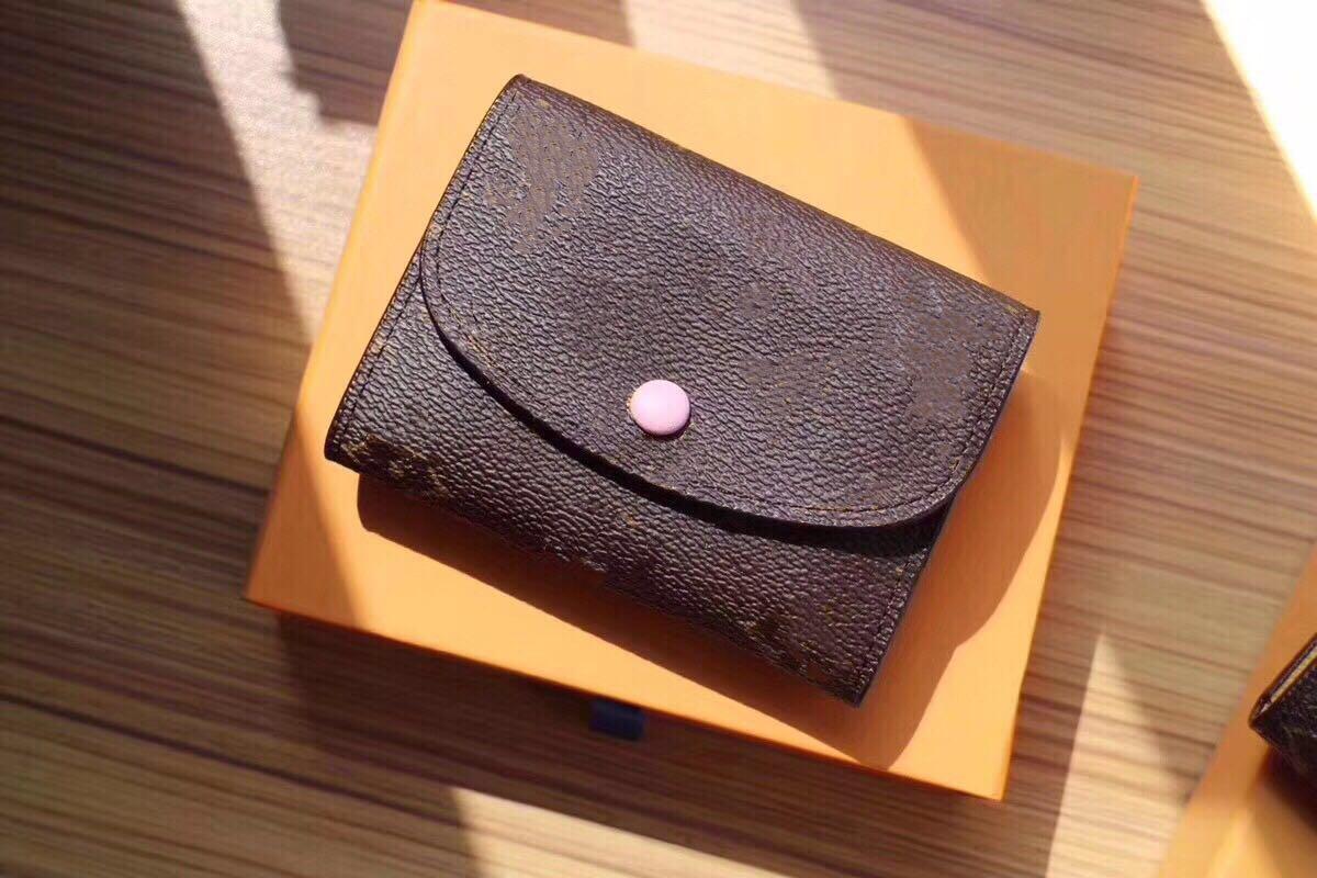 Toptan Tasarımcı Cüzdan Deri Renkli Sikke Çanta Kısa Cüzdan Polykromatik Çanta Bayan Kart Tutucu Klasik Mini Fermuar Cebi