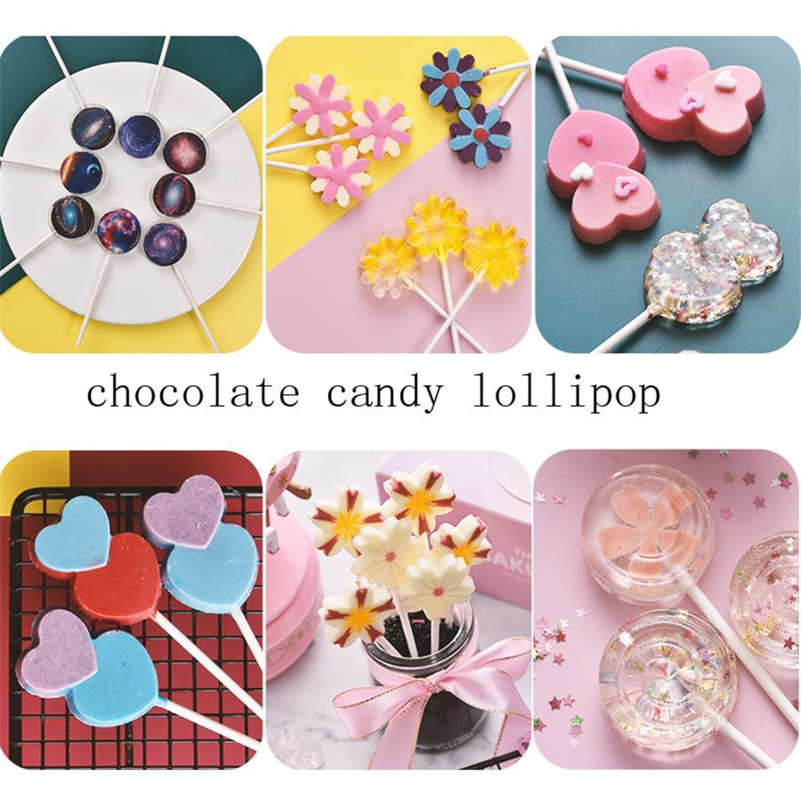 Lolli Silicone Mold 3D Hand Made Sucker Sticks Chocolate Cake Jelly Candy Mold With Sticks Party Decoration CCD3486