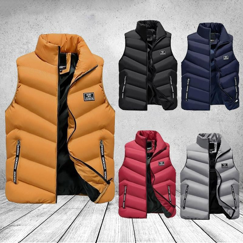 Men Winter Vest Zipper Stand Collar Down Vest Male Outwear Sleeveless Men Jackets NYZ Shop