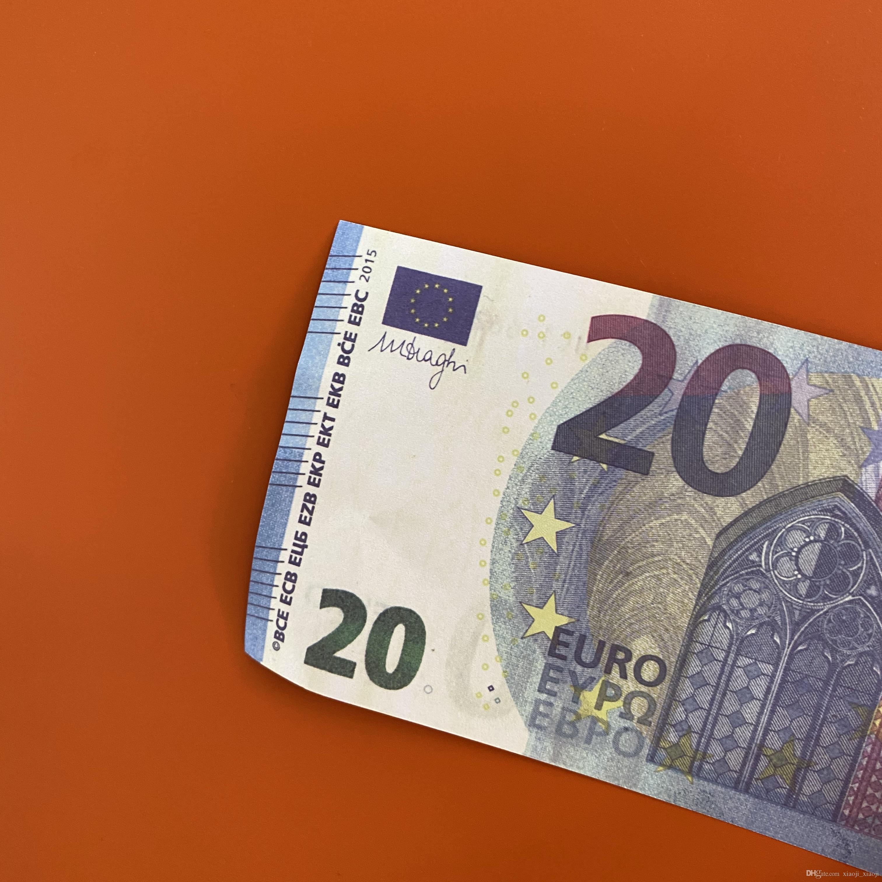 01 Movie Euro Vendita del partito del partito del partito Fake Toy Trasporto qualità Best Banconota Banconota Biglietti Billette Banconota Banconota 20 Gioca denaro Fast Euro Prop KDMVG