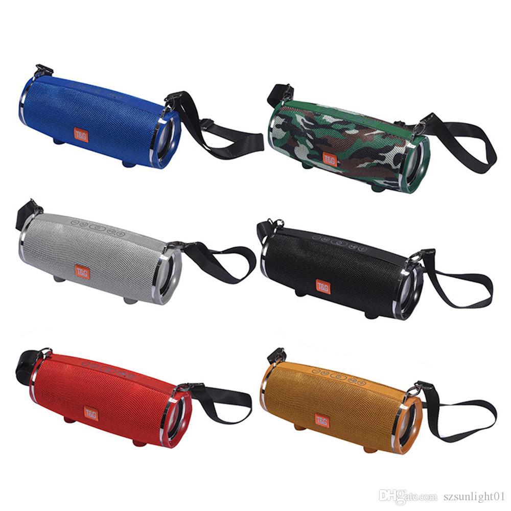 TG189 Taşınabilir Büyük Kablosuz Bluetooth Hoparlör Müzik MP3 Çalar Süper Bas Su Geçirmez Subwoofer SD Kart Mic Omuz ile