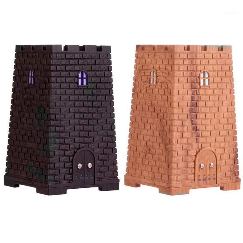 Humidificadores 250ml castillo aroma ultrasónico aceite esencial difusor de aire humidificador de aire luz de noche1