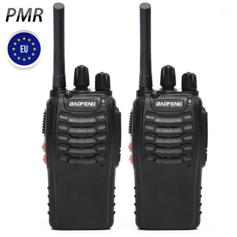 2PCS BAOFENG BF-88E 업그레이드 BF-888S 워밍업 UHF PMR446 0.5W 16CH 유럽 핸드 헬드 CB 라디오 방송국 양방향 라디오 1
