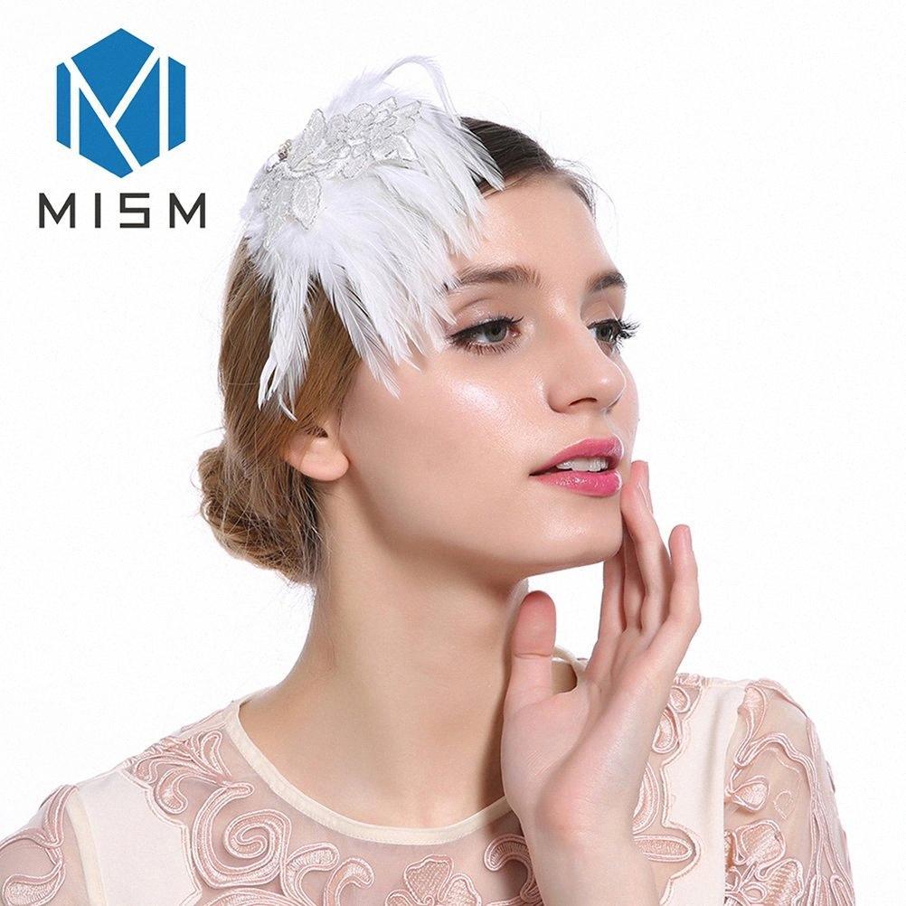 M MISM Nouveau Femmes Accessoires cheveux plume élégante mariée mariage Barrettes bande de haute qualité Hot ventes charme Couvre-chef de #
