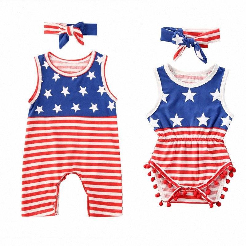 0-24 M Ropa de bebé recién nacido niño de Verano 2020 muchachas de los bebés ropa 2pcs Set mangas del mameluco del mono con banda de Trajes WnP5 #