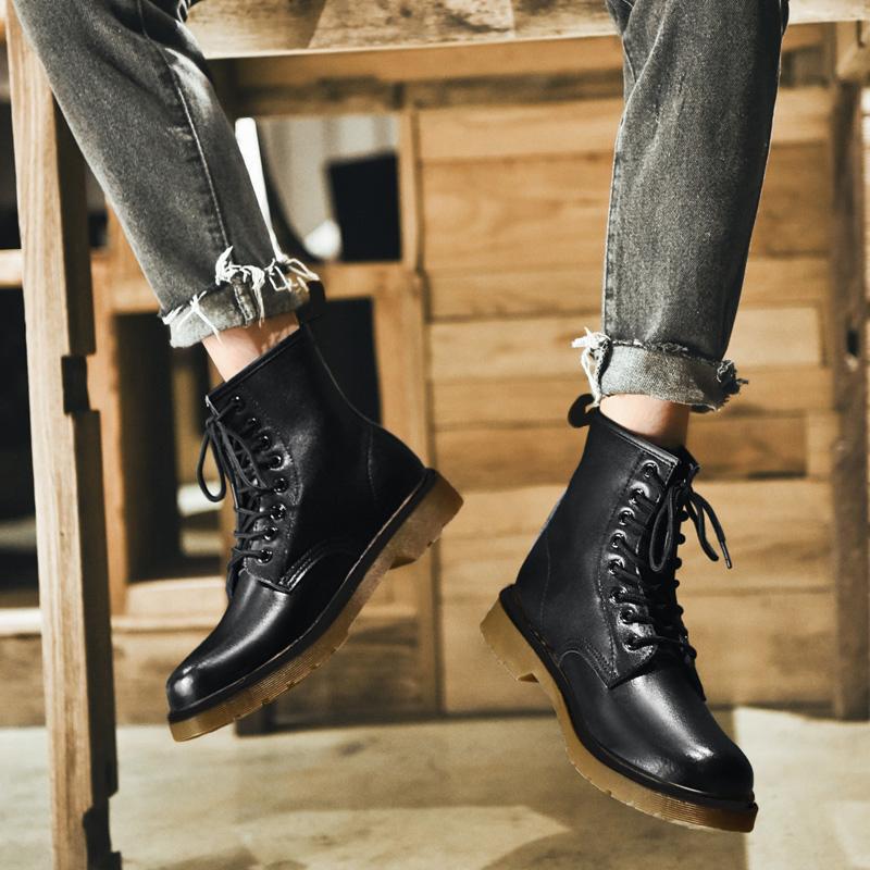 Hommes Chaussures Hommes Hommes 1460 Bottes d'hiver 8-Eye Femmes Cuir Boot Boot De La Mode Cowboy Moto Black Casual Hommes Bottes 201126