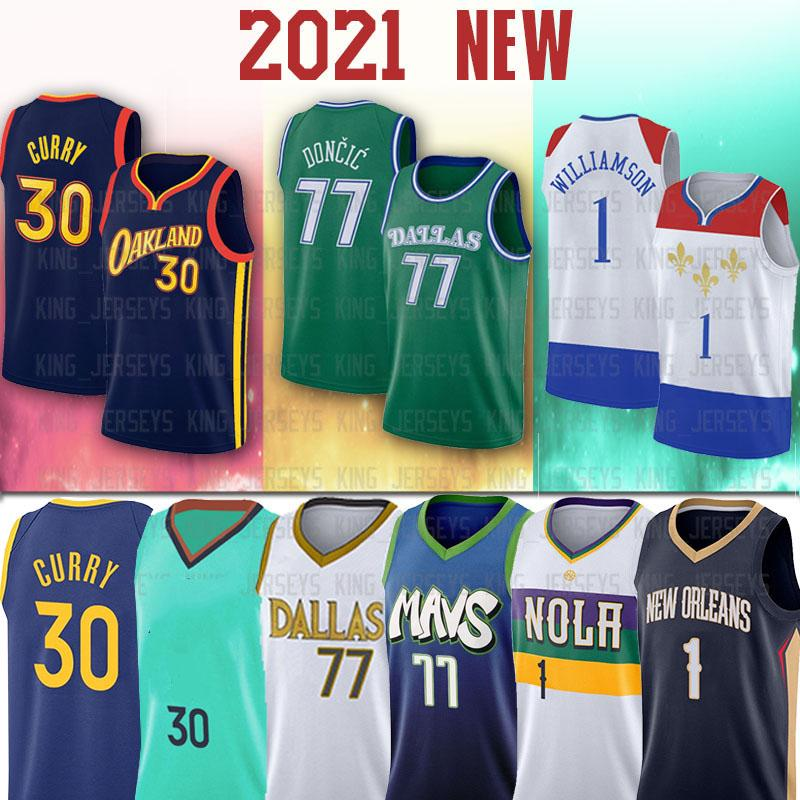 NCAA 77 Luka Curry Doncic New 30 Stephen Jersey Zion 1 Williamson كرة السلة الفانيلة