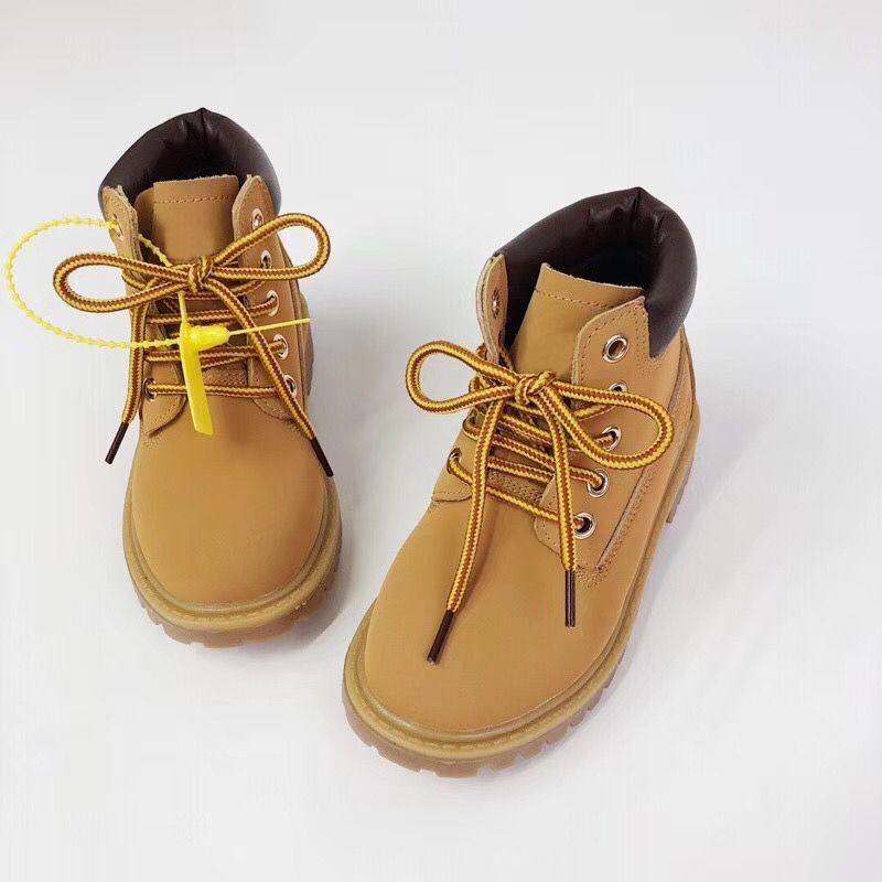 Yüksek kaliteli Çocuklar Markalı Martin Boots Erkekler Kızlar Çocuk Su geçirmez Tasarımcı Bilek Boots Kar Boots Kış İş Boot Ayakkabı