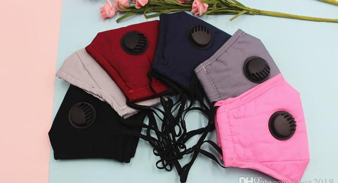 Yumuşak Yeniden kullanılabilir Tasarımcı Karşıtı Maskeler Nefes Kjmr ile Vana earloop Yüz Koruyucu Nefes Ağız Toz Ayarlanabilir moda Maske