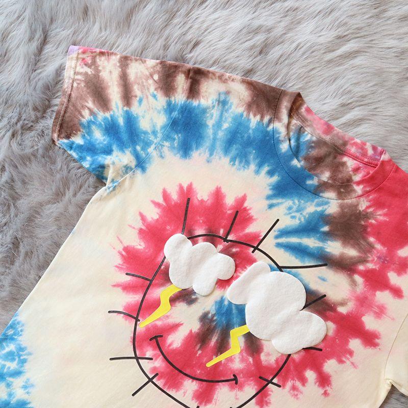 2021 Neue Travis Scott Cactus Jack Stormi 2 Partytie Dye Tee Astroworld Frauen Männer Hohe Qualität Baumwolle T-Shirt TBMH
