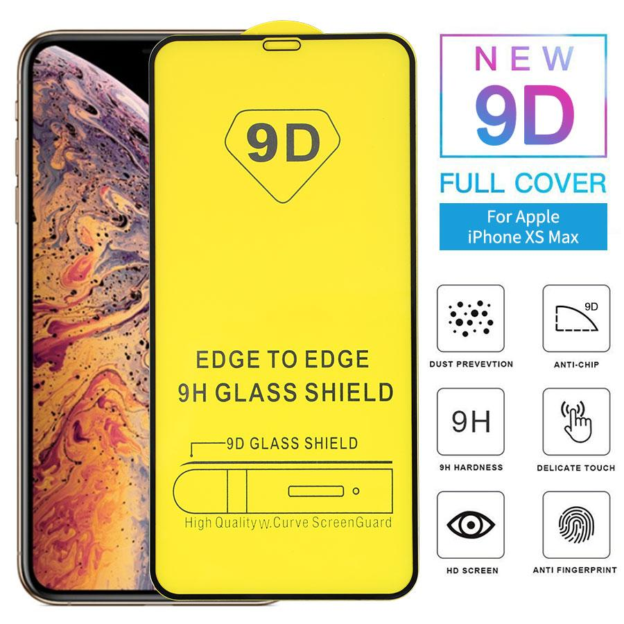 9D Full Cover Tempered Glass Glue Screen Protector Film for iPhone 12 mini 11 Pro X XS Max XR 7 8 plus SE