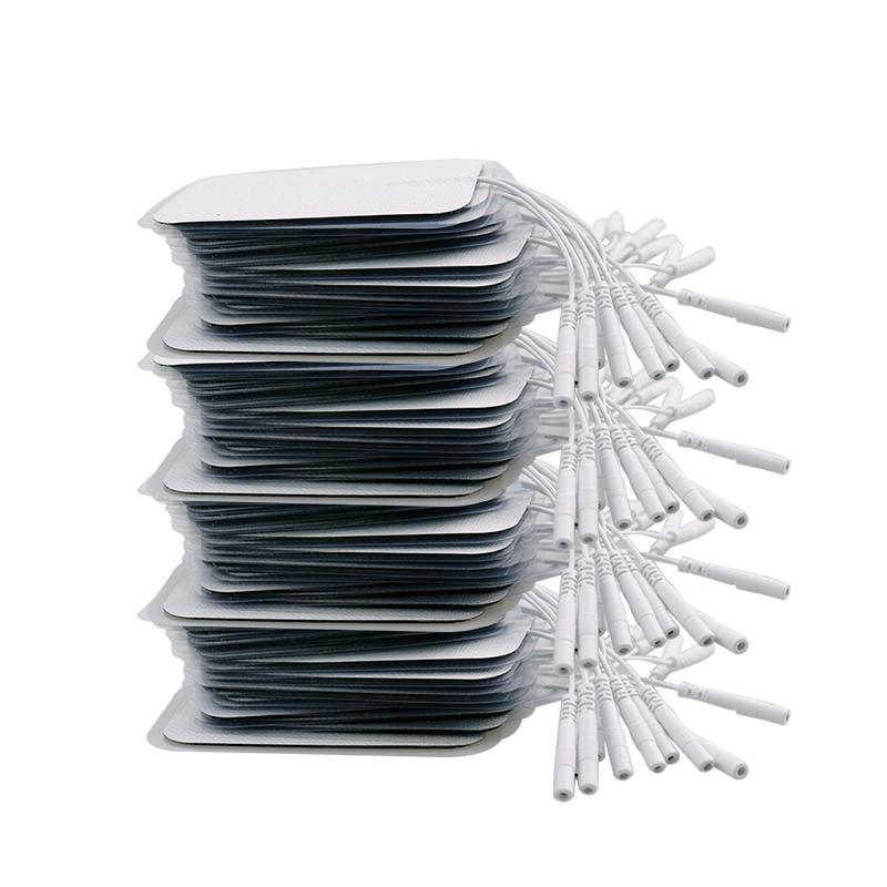 20 / 50P قابلة لإعادة الاستخدام وسادات القطب الكهربائي عن عشرات الوخز بالابر العلاج آلة العلاج الطبيعي الجسم مدلك العضلات تحفيز تصحيح 2mm في التوصيل