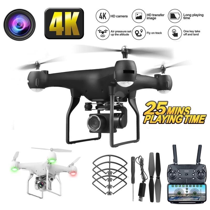 Hava fotoğrafçılığı ile RC Drone İHA 4 K HD Piksel Kamera Uzaktan Kumanda 4-Axis Quadcopter Uçak Uzun Ömür Uçan Oyuncaklar Jimitu 201104