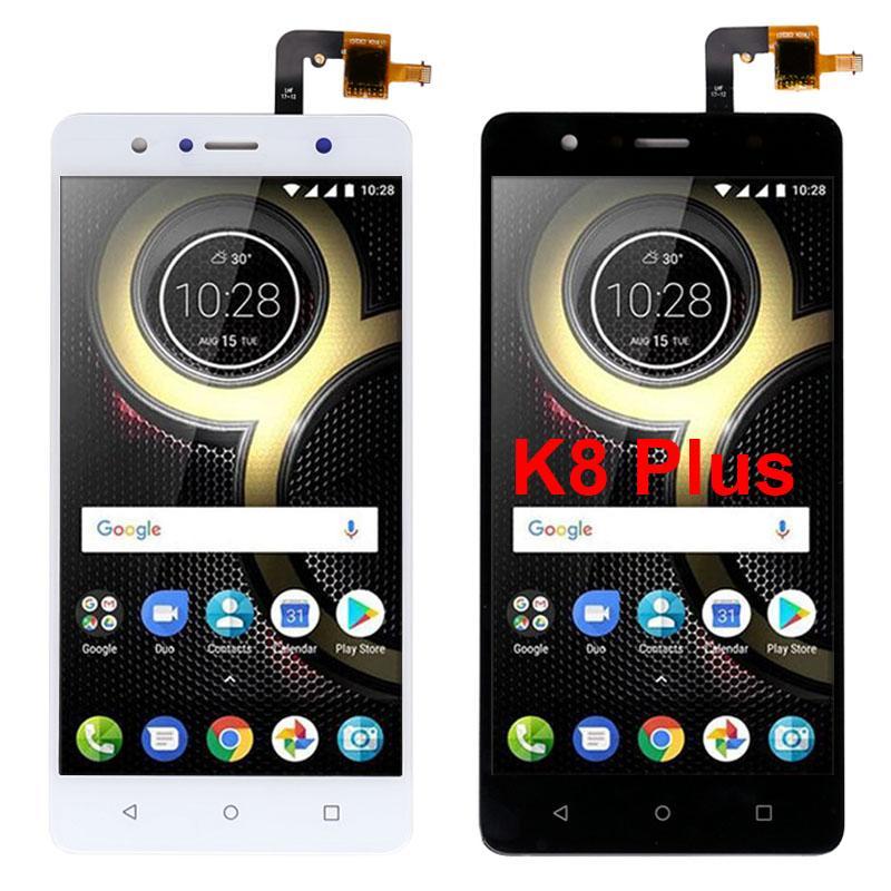 100% geprüft 5,2 Zoll Für Lenovo K8 Plus-LCD-Anzeigen-Screen-Analog-Digital wandler Ersatz Großhandel Ersatzteile