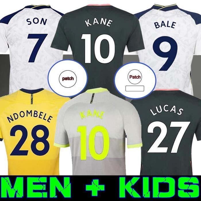 الرجال + الاطفال 20 21 Kane Son Bergwijn Nderbele Soccer Jerseys 2020 2021 توتنهام ديل جيرسي كرة القدم قميص Lo Celso Morgan Bale Lamela 4th