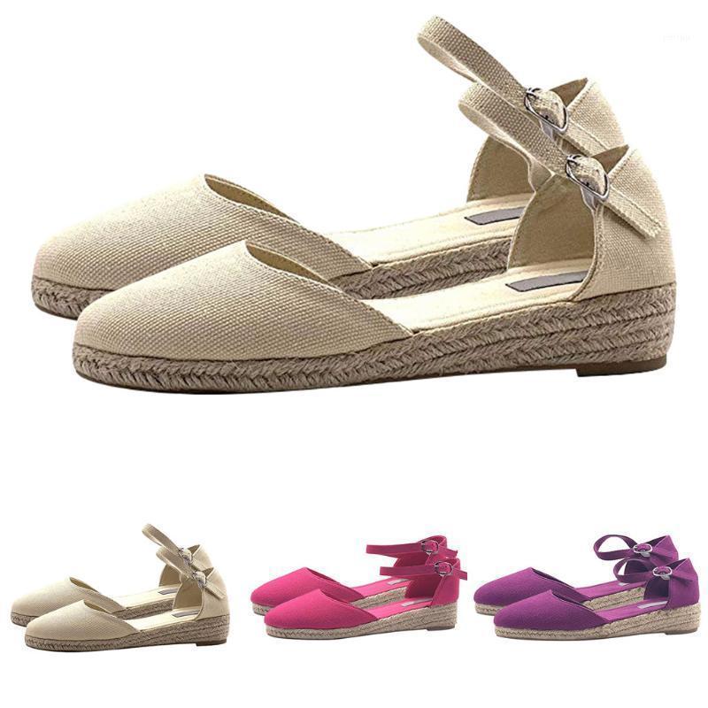 SAGACE Women Sandals Summer Ladies Comfortable Wedge Round Toe Sandals Female Soft Beach Sole Shoes Lady Plus Size Single Shoes1