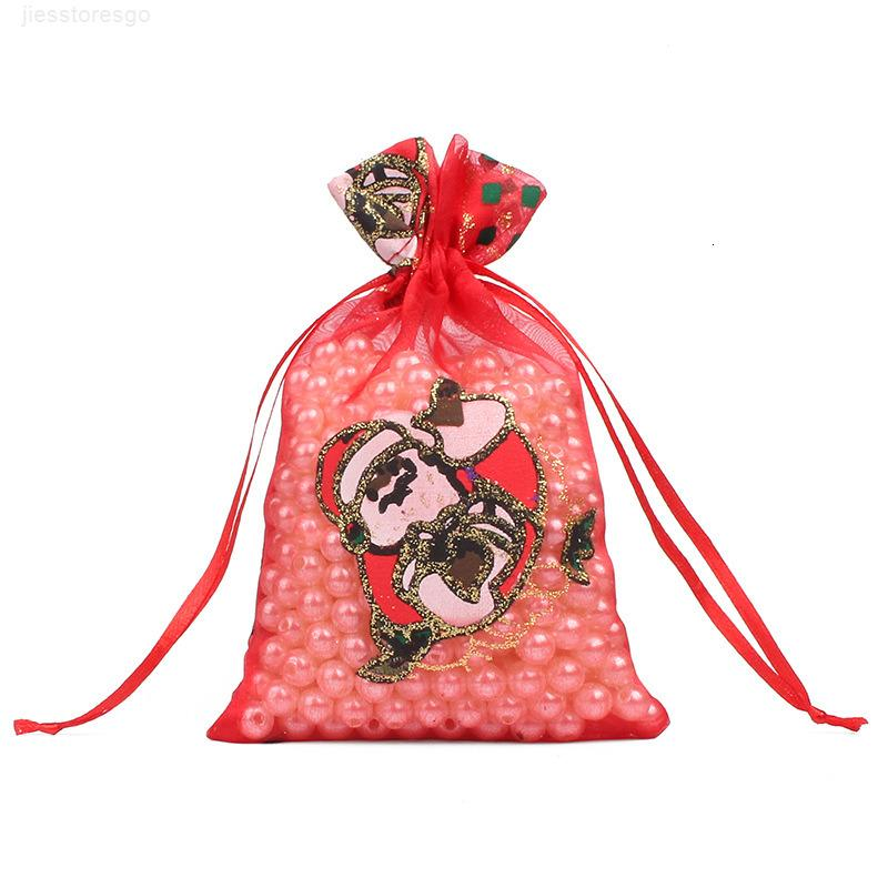 Aşınma Dirençli Paketi Pocket Moda Yaratıcı 0 9rh2 J1 nowflake Noel Baba Taşınabilir İpli Çanta Şeker Takı Organze çantalar