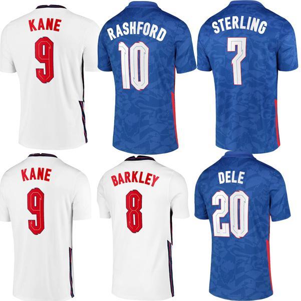 2020 Dele Alli Alli Futebol Jerseys Kane Rashford Vardy Barkley Sterling Sturridge Sancho Jersey 2021 Homens + Kit Kit Camisa de Futebol