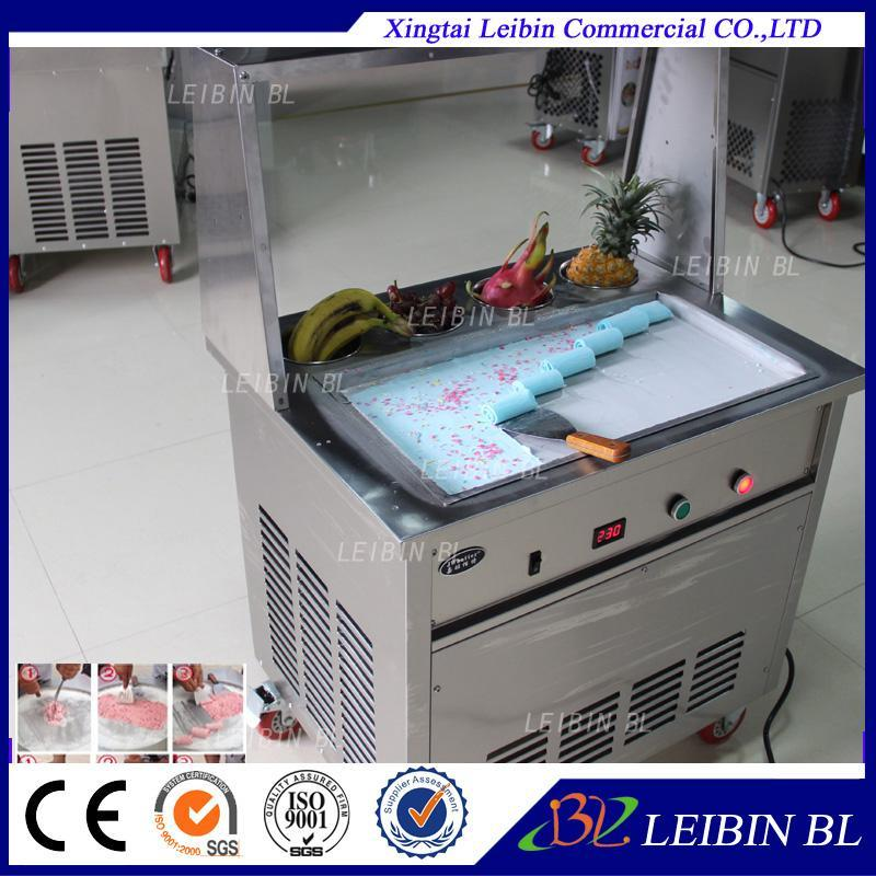 CE máquina de sorvete frito certificada